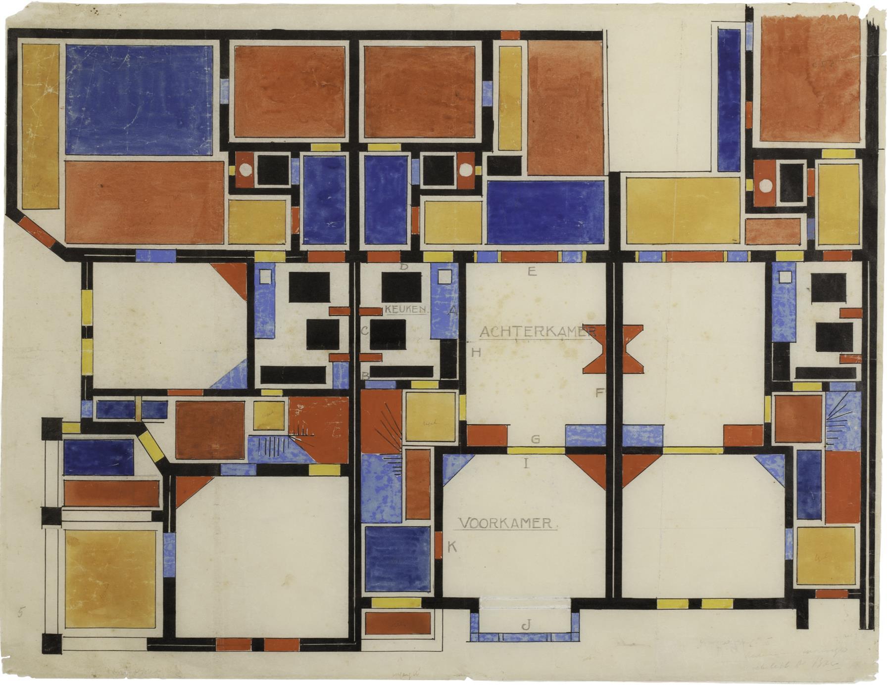 De Stijl in Drachten, Kleurontwerp Theo van Doesburg